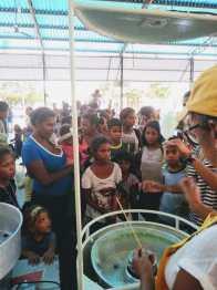 Festa para as crianças teve brincadeiras e lanches.