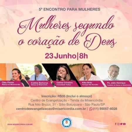5° Encontro para Mulheres - Edição 2019 @ Centro de Evangelização    São Paulo   Brasil