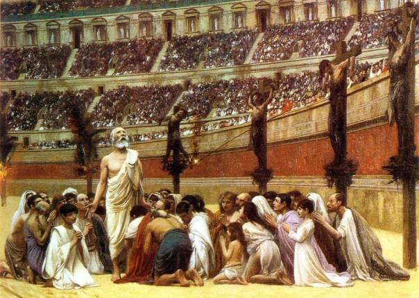 Gravura que representa o martírio dos cristãos em Roma