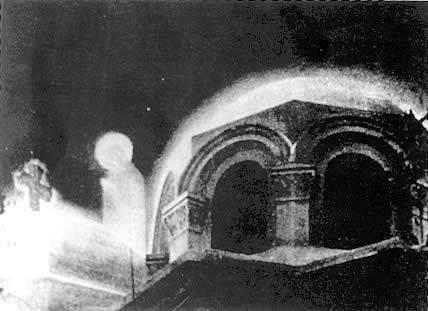 Foto de Nossa Senhora sobre a cúpula da igreja-Zeitoun