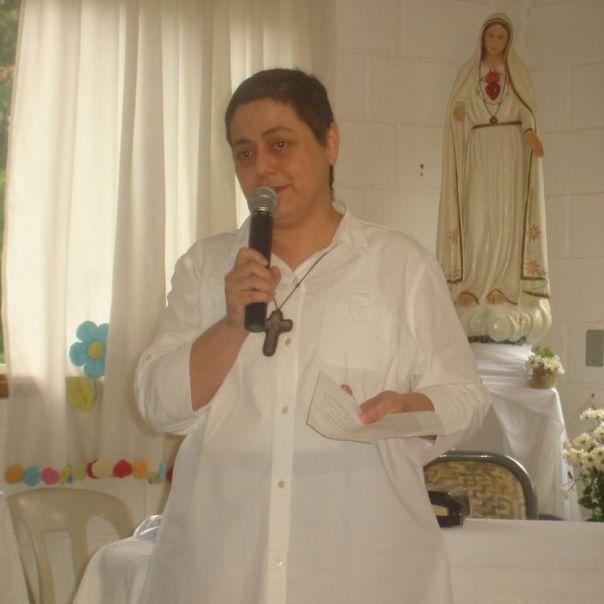 Maria Paola e imagem de Nossa Senhora