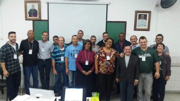 Fotos com integrantes da coordenação geral.