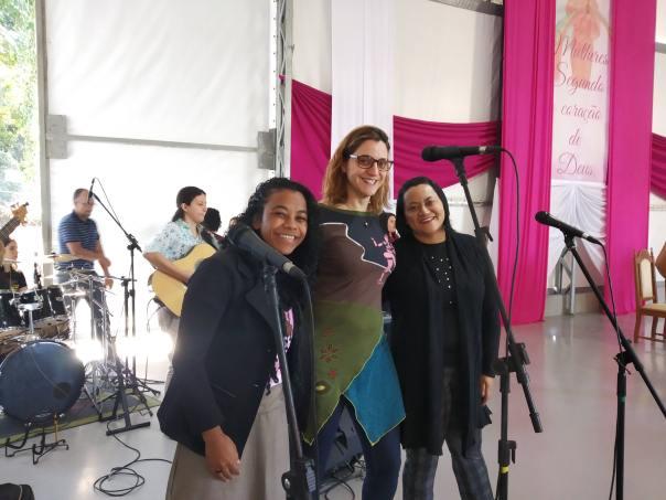 Vocalistas do ministério de música.