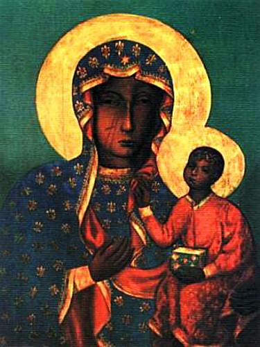Imagem da Czarna Madonna, a Senhora Negra.