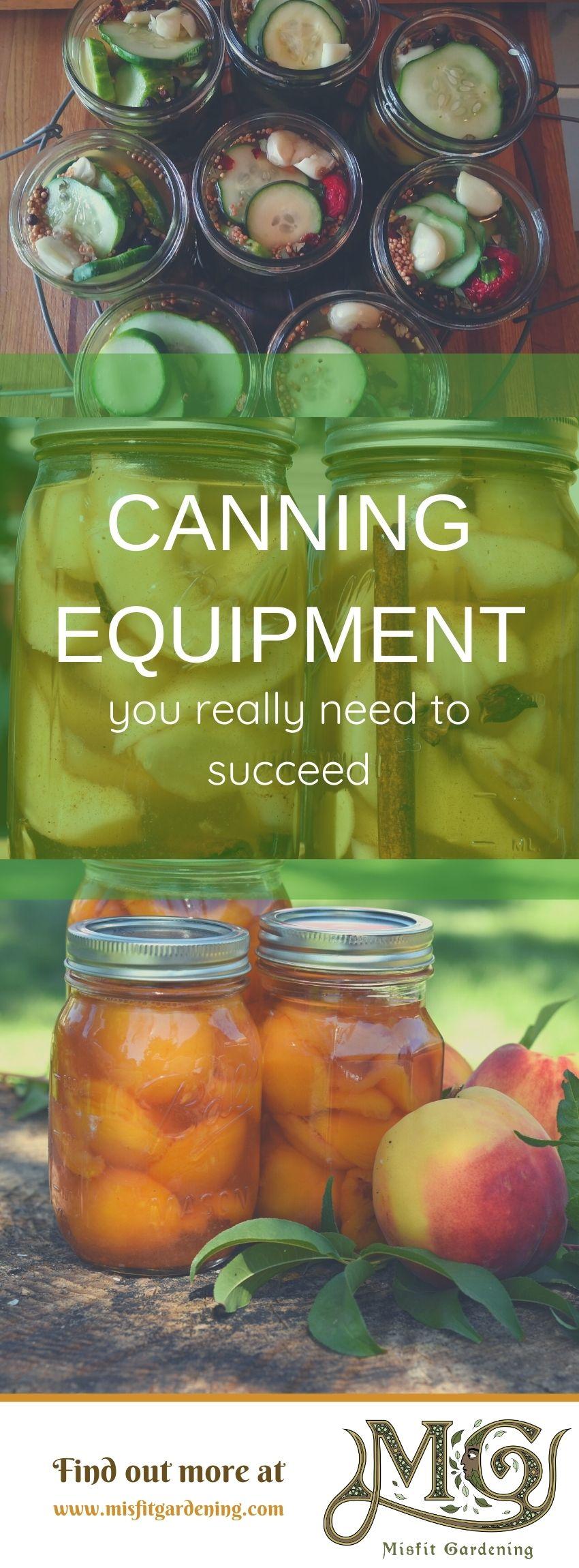 Klicken Sie hier, um zu sehen, welche Konservenausrüstung Sie benötigen, oder stecken Sie sie fest und speichern Sie sie für später. #Homesteading #Canning