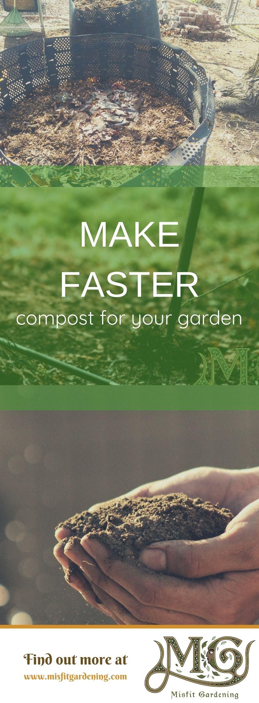 Klicken Sie hier, um zu sehen, wie Sie Kompost noch schneller machen oder anheften und für später speichern können. #homestead #organic #gardening