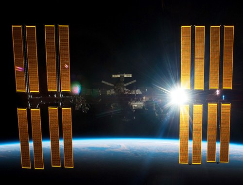 international space station solar cells