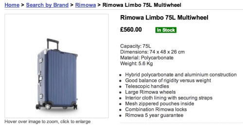RIMOWA trolley suitcase