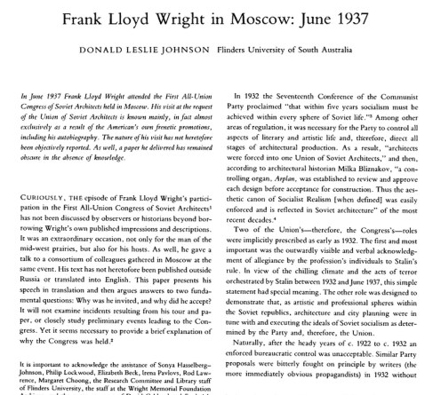 FLW in moscow 2