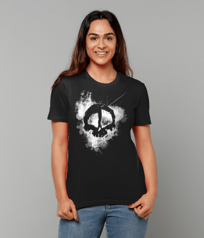 Misfits Inc Skull Splatter T-Shirt Organic Cotton Design
