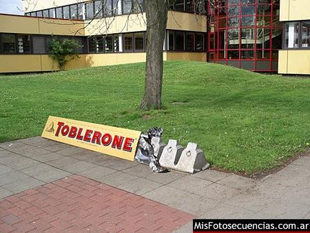 Toblerone y el Ambient Marketing