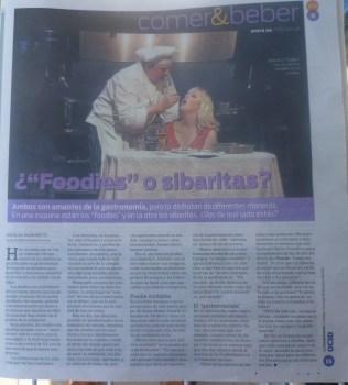 """Foodies"" o Sibaritas"