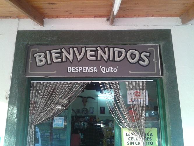 Despensa Quito, un oasis en Falda del Carmen
