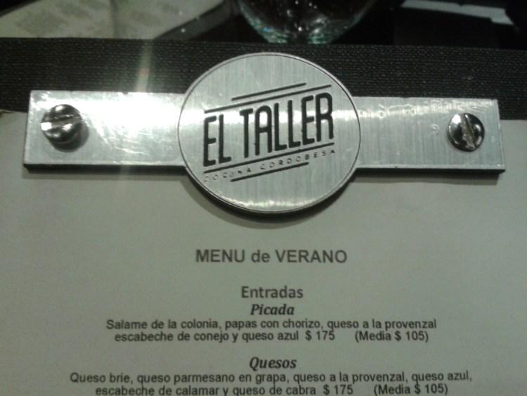 El Taller, cocina cordobesa en Río Cuarto