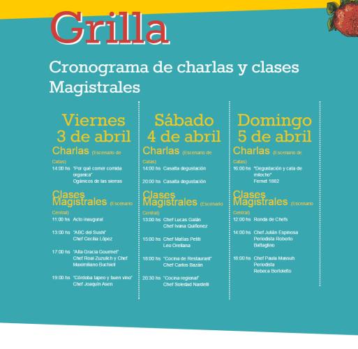 Grilla del Festival Peperina