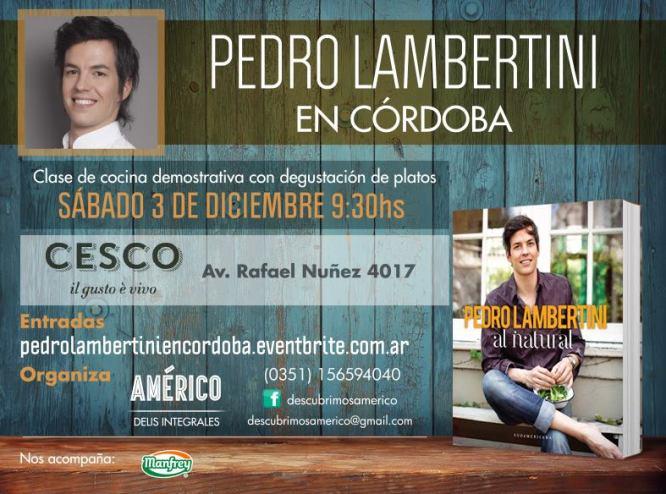 Clase de Pedro Lambertini en Córdoba