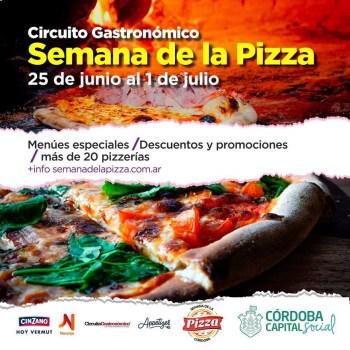 Semana de la pizza en Córdoba