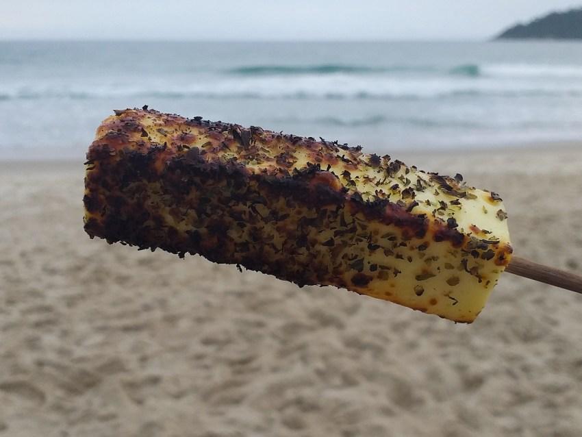 Queijo Coalho en la playa de Brasil