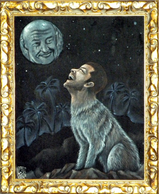 Wolf Jack Howling at The Moon of Locke