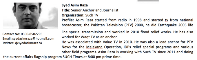 Syed Asim Raza Profile