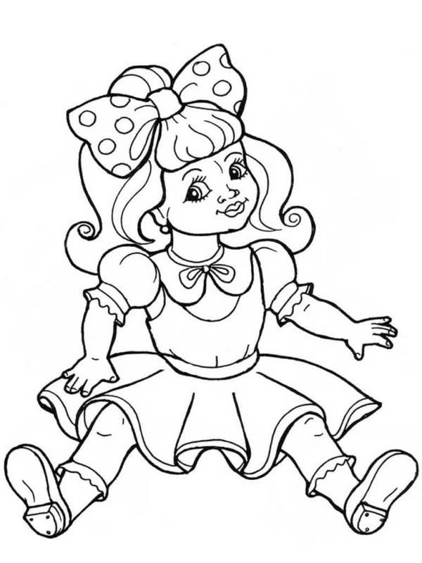 Раскраски Куклы.