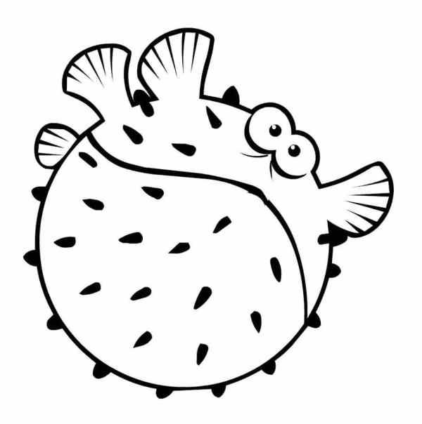 Раскраски рыбы и морские обитатели для детей 3-10 лет ...