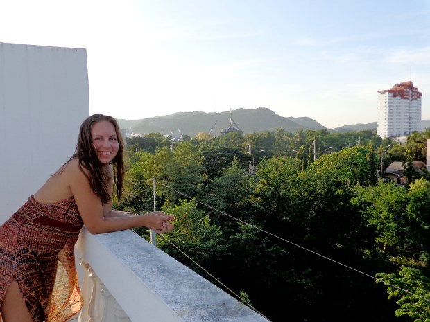 Hanging out on a roof top in Hua Hin