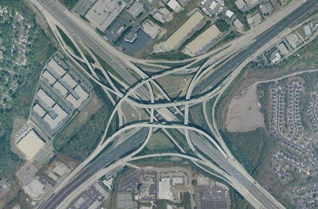 Spaghetti Junction in Atlanta
