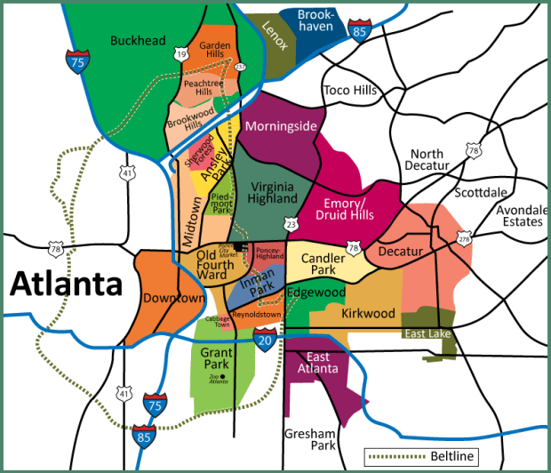 Map of Atlanta neighborhoods