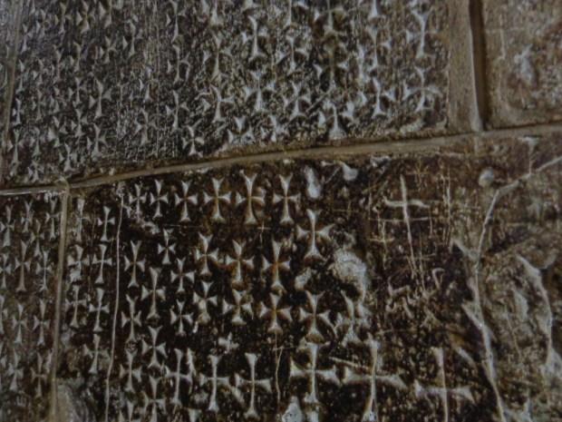 Church wall in Jerusalem