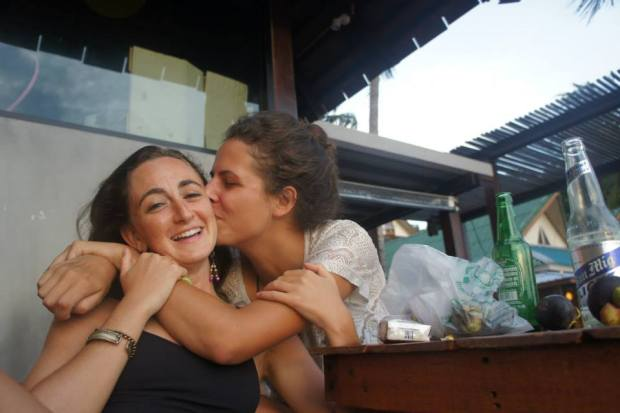 Having a more open mind to...girl on girl action? More like sad goodbye kisses in Thailand!!