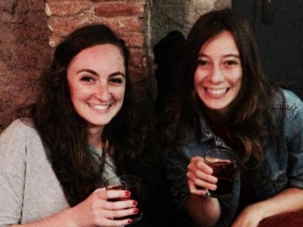 Sangria night in the hostel in Barcelona with new friends