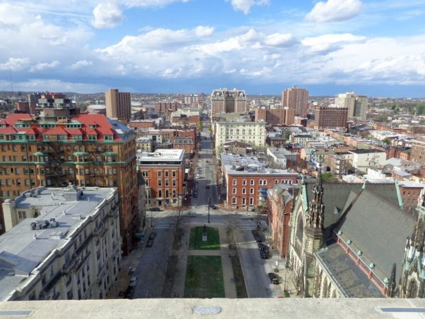 View of Baltimore from the top of the Washington Monument
