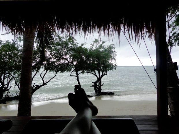 Foot selfie in Koh Phangan, Thailand