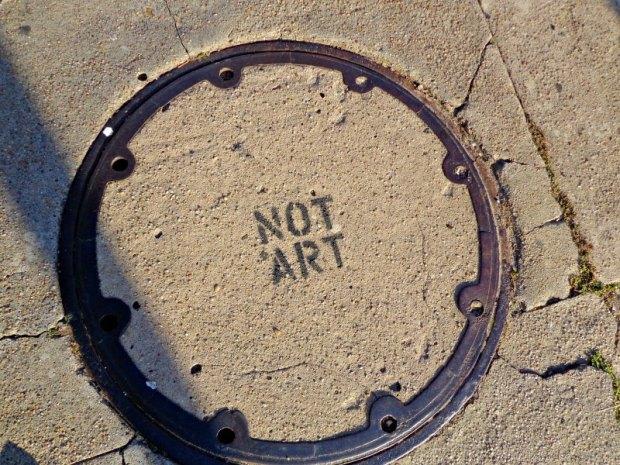 Not art sidewalk graffiti