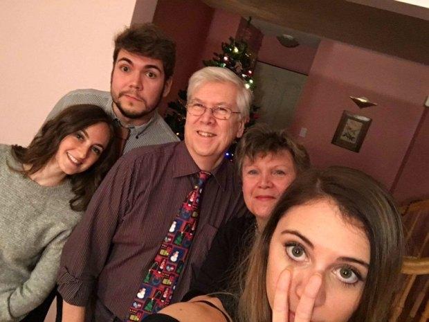 Christmas eve group selfie