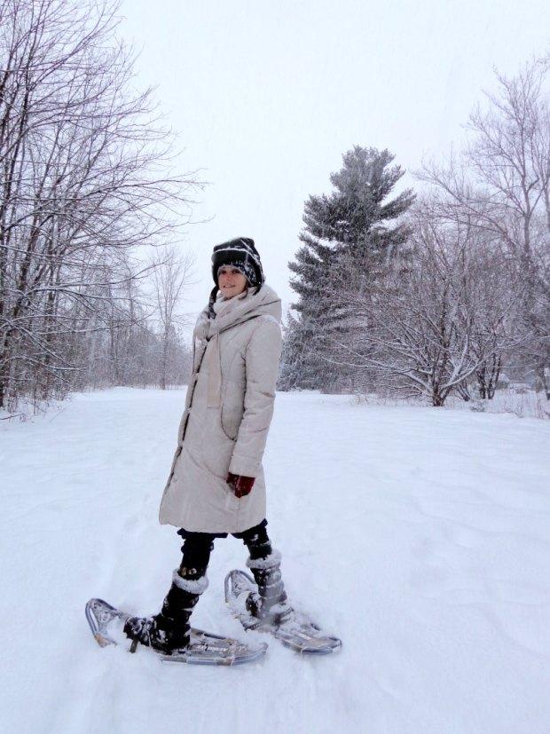 Snowshoeing in Ottawa during Christmas