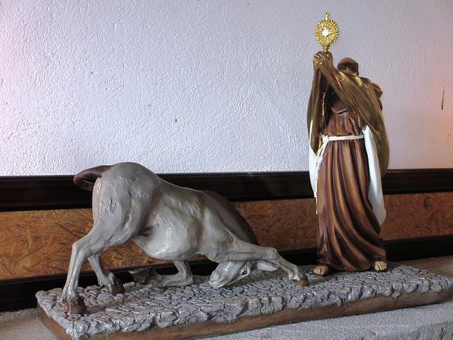Milagro eucaristico de San Antonio xon la mula