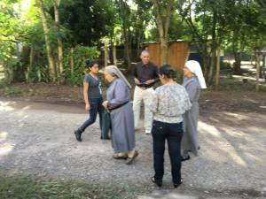 La Hna María Carlota y la Hna. Paula Hidalgo fundadora de la fraternidad misionera del Fiat de Maria
