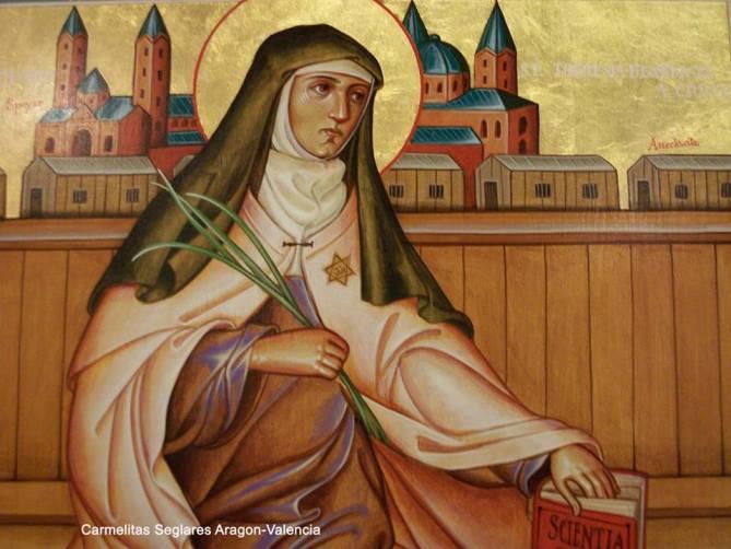 Virgen de la Orden de Carmelitas Descalzas y mártir