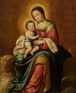 Nuestra Señora del Rosario, Por el artista español Juan del Castillo