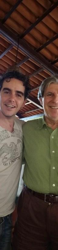 Miguel junto a Alberto Escober, quien le escribió una canción