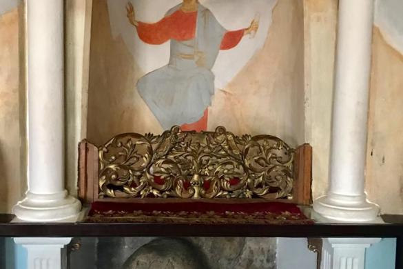 Piedra sobre la cual eñ Seńor fue sentado y tentado