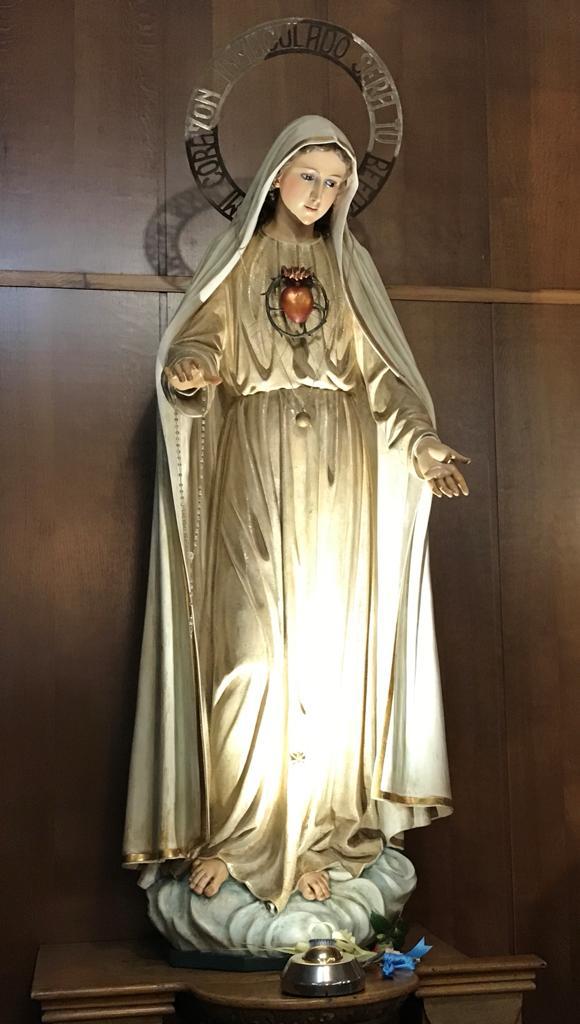 Imagen de la aparicion de la Virgen en la Capilla interna del Convento
