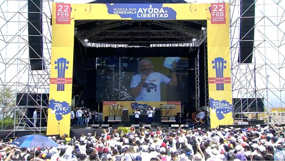 Richard Branson en el Venezuela Aid LIve