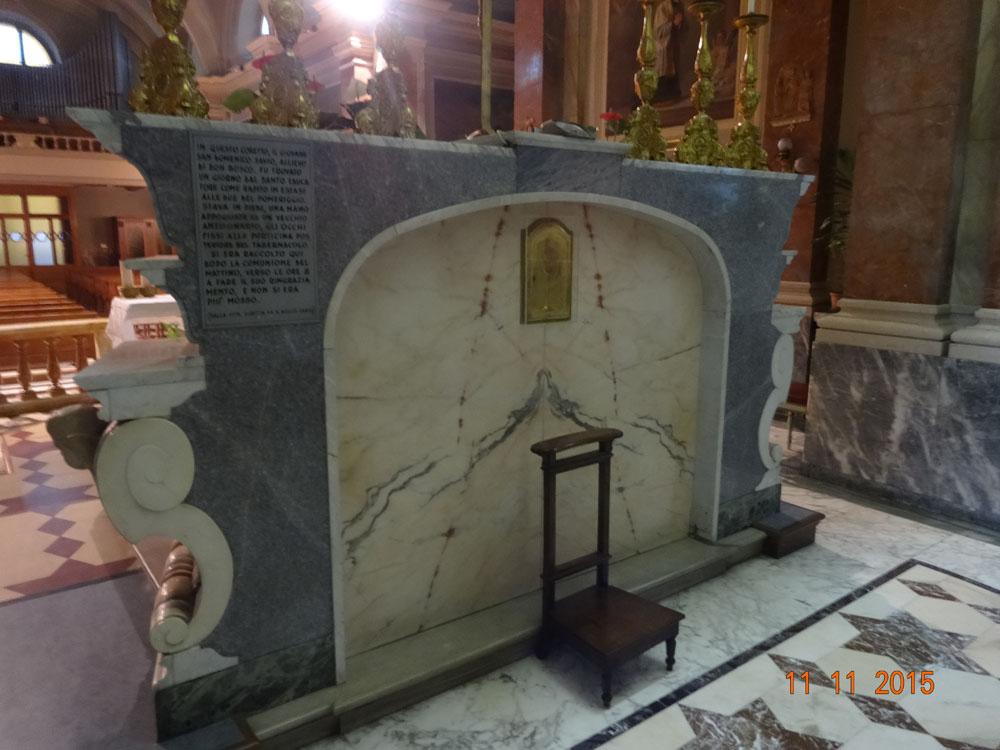 Capilla San Francisco de Sales. (Reclinatorio de Santo Domingo Savio)