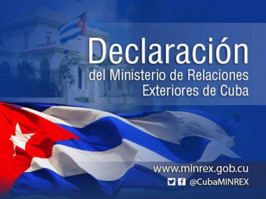 Cuba rechaza enérgicamente la amenaza de activación del Título III de la Ley Helms-Burton