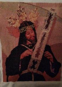VENTA DE BORDADO A PUNTO DE CRUZ CON IMAGEN DE JESÚS DE NAZARET
