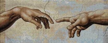 MIGUELCRT: Gráfico de punto de cruz para descargar en PDF, imprimir y bordar detalle de las manos de la Capilla Sixtina de Miguel Angel