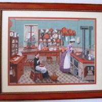 VENTA DE BORDADO A PUNTO DE CRUZ con dibujo de cocina antigua